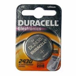 """DURACELL Lot de 2 Piles bouton lithium """"Electronics"""" CR 2430 3 volt"""