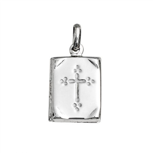 Bling Jewelry Book Bible Religious Cross Locket Pendant 925 Sterling Silver