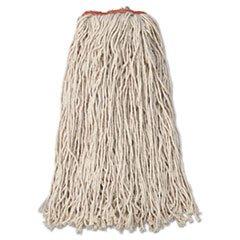 * Premium Eight-Ply Cut-End Cotton Wet Mop Head, 24Oz, White, 12/Carton front-349344