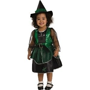 Wizard Of Oz Wicked Witch Child Costume Size 1-2T Toddler