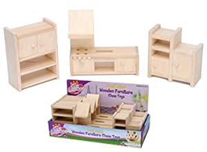 Wooden Furniture Chews for Hamsters, Mice, Rats