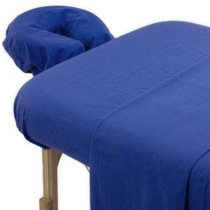 True Premium 100% Cotton Jersey Massage Table Sheet 3 Pc Set