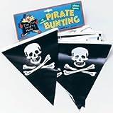 Plastic Pirate Skull & Crossbones Bunting 6 Metres