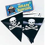 Plastic Pirate Skull & Crossbones Bunting 6 Metresby Pams