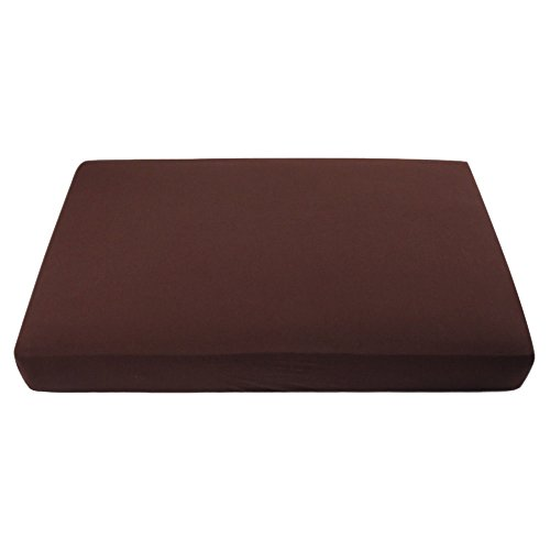 "My Blankee Organic Cotton Jersey Knit Crib Sheet -Brown 28""x52""x9"" drop"