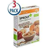 Sprout Organic Baby Food Toddler Meal Sweet Potato and Apple Risotto with Turkey -- 6.5 oz Each / Pack of 3