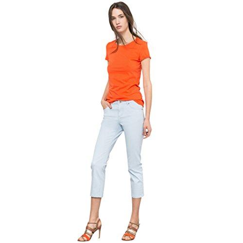R Essentiel Donna Pantaloni Slim 5 Tasche Twill Taglia 46 Blu