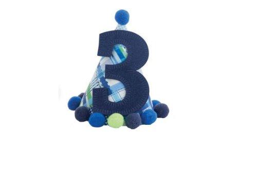 "Mud Pie Blue ""I'm Three"" Birthday Hat-1002003"