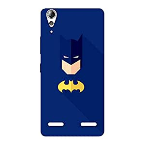 Premium Blue At Yellow Back Case Cover for Lenovo A6000