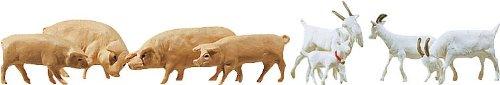 FALLER-154008-8-Ziegen-7-Schweine