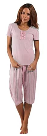 84212-Womens Betty 3/4 Pyjama Set. 18/20 Pink