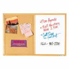 Boone Combination Dry-Erase/Cork Bulletin Board, 36in. x 48in., Oak Frame/Natural Cork - Buy Boone Combination Dry-Erase/Cork Bulletin Board, 36in. x 48in., Oak Frame/Natural Cork - Purchase Boone Combination Dry-Erase/Cork Bulletin Board, 36in. x 48in., Oak Frame/Natural Cork (Boone International, Office Products, Categories, Office & School Supplies, Education & Crafts, Teaching Materials)