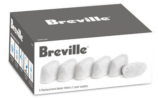 Breville BKC600 Gourmet Single Cup Coffee Brewer Replacement Filters, 6-Pack (BWF100)