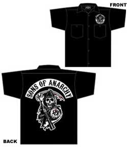 Sons of Anarchy - Classic Reaper Workshirt - Men's 2X-Large