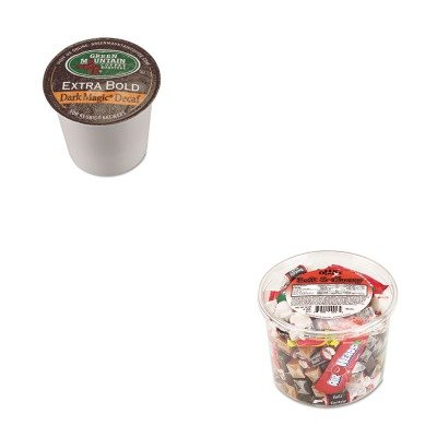 Kitgmt4067Ctofx00013 - Value Kit - Green Mountain Coffee Roasters Dark Magic Decaf Extra Bold Coffee K-Cups (Gmt4067Ct) And Office Snax Soft Amp;Amp; Chewy Mix (Ofx00013)