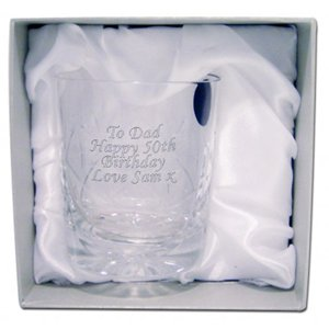 Personalised Crystal Whisky Tumbler (With Presentation Box)