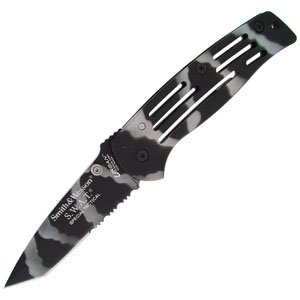 Smith & Wesson Sw3500Cs Swat Special Tactical Serrated Tanto Frame Lock Knife, Camo
