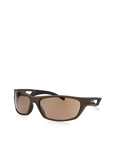 Timberland Men's TB7124-49G Rectangle Sunglasses, Brown/Brown