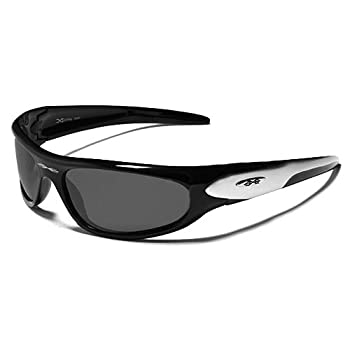 X-Loop Lunettes de Soleil - Sport - Cyclisme - Ski - Conduite - Moto - Plage / Mod. 1200 Noir Argent / Taille Unique Adulte / Protection 100% UV400