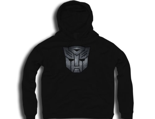 DTG Clothing Autobots Transformers autobots logo metallic Mens Hoodies - Black - Mens X-Large