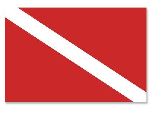 Scuba Dive Flag Sticker (diving diver decal) (Scuba Decal compare prices)
