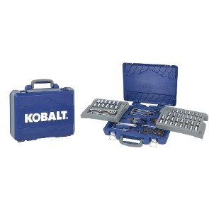Kobalt 131-Piece Standard (Sae) and Metric Combination Mechanic's Tool Set with Case