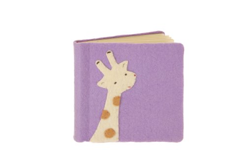 Kata Golda 7.25 By 7-Inch Giraffe Felt Applique Photo Album - 1
