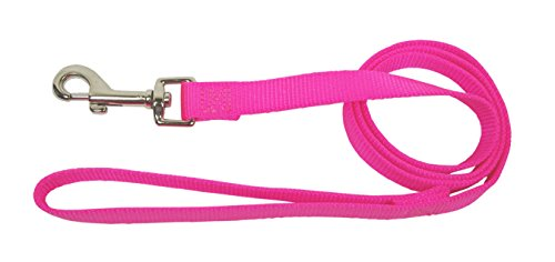 Hamilton Single Thick Deluxe Nylon Lead with Swivel Snap, 5/8-Inch by 6-Feet, Hot Pink (Dog Leash Hot Pink compare prices)