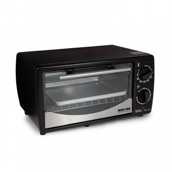 Better Chef 9 Liter Toaster Oven Broiler- Black With Stainless Steel Front from BETTER CHEF