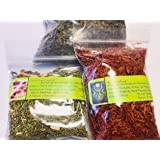 Incense making sampler ~ Hecate ~ 3 dried herbs ~ Wicca ~ Ravenz Roost herbs (Color: Red)