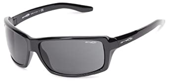 Arnette Chop Shop AN4172-02 Square Sunglasses,Gloss Black Frame/Grey Lens,One Size