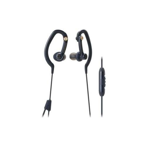 Audio-Technica Ath-Ckp200Is Sonicsport In-Ear Headphones For Smartphones Stereo - Black - Mini-Phone - Wired - 16 Ohm - 20 Hz - 23 Khz - Over-The-Ear - Binaural - In-Ear - 2 Ft Cable - Condenser Omni-Directional Microphone