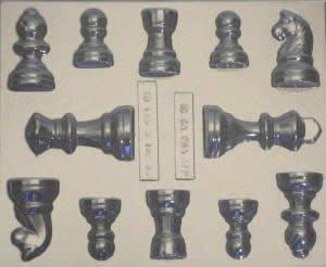 Schachfiguren schokoladenform