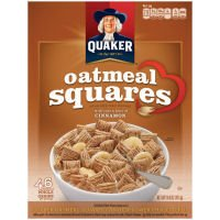Quaker Oatmeal Squares with Just A Hint Of Cinnamon Crunchy Oat Cereal 14.5 oz (030000061534)