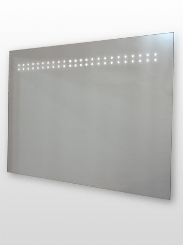 LED Illuminated Bathroom Mirror, (h)500 x (w)700mm IP44 Rated with On/Off Infra-Red Sensor, Demister Pad and Built-in 240v Shaver Socket