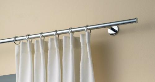 kura gesch ft design gardinenstange plus komplettgarnitur zur wandmontage l nge 200cm. Black Bedroom Furniture Sets. Home Design Ideas
