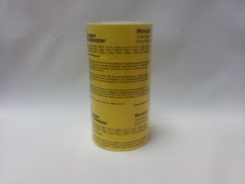 Monarch 1131Price Gun étiquettes 20000étiquettes/jaune 8bobines pelables