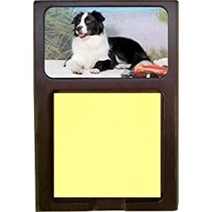 Border Collie Sticky Note Holder
