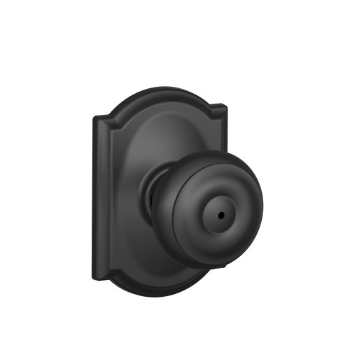 Schlage F40 GEO 622 CAM Camelot Collection Georgian Privacy Knob, Matte Black (Black Privacy Door Knob compare prices)