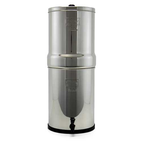 Crown Berkey Water Filter With 2 Black And 2 Pf2 Fluoride Filters