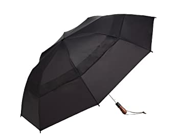 WindJammer by ShedRain 2044A-B Black 58-Inch Arc Vented Auto Open Jumbo Umbrella