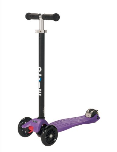 maxi kick® Scooter - PURPLE with T-BAR Steering. Winner of the Oppenheim Toy Portfolio Gold and Platinum Seal Awards, 2009
