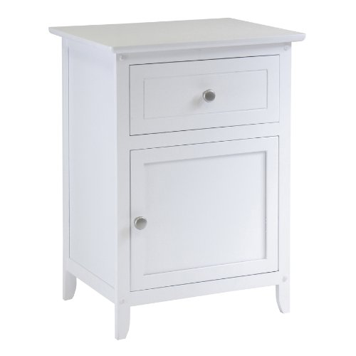Learn More About Winsome Wood Night Stand/ Accent Table with Drawer and cabinet for storage, White