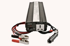 Simran DF1753-500 - DC / AC Power Inverter Converts 12 Volt DC Car Battery Power to 110V / 120 Volt AC Household Power - 500 Watt