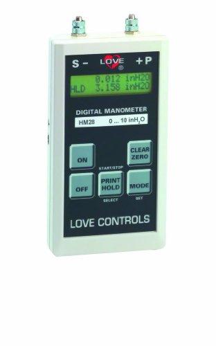"""Dwyer Love Series Hm28 Handheld Digital Manometer, Range 0-120"""" Wc, H2O (30 Kpa), 0.05% F.S."""