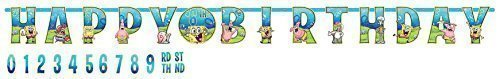 SpongeBob SquarePants Kids Birthday Party Jumbo Add An Age Letter Banner 10 Ft. (1ct)