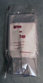 Wine On Tap Replacement bags: bag of 3