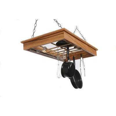 Cheap Hanging Pot Rack with Halogen Lighting (HPRROL)