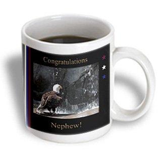 3Drose Congratulations Eagle Scout Nephew Eagle By Waterfall Ceramic Mug, 11-Ounce