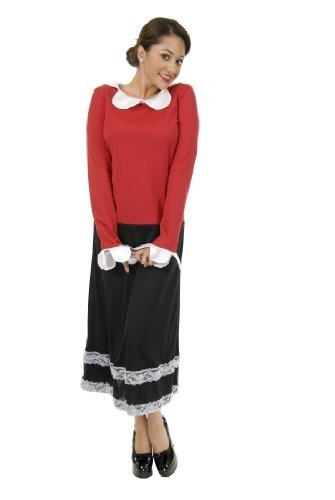 Olive Oyl Costume - Large - Dress Size 11-13 (Olive Oyl Fancy Dress)